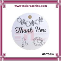 Wholesale custom printed jewelry hang tags/fashion thank you gift tags ME-TG018 from china suppliers