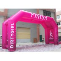Wholesale PVC Tarpaulin Inflatable Finish Arch With Fully Printing Activity / Sports Use from china suppliers