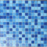 Quality LAR029 mix swimming pool tiles price crystal glass mosaic pattern 20x20mm for sale