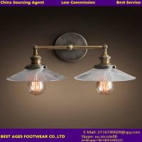 Wholesale Clear glass shade metal body base adjustable wall lamp from china suppliers