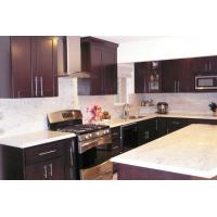 Wholesale Chocolate Gloss Solid Wood Kitchen Cabinets , Traditional Kitchen Cupboards from china suppliers