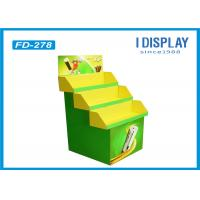 Wholesale Battery Green Cardboard Retail Pallet Displays Shelves With 3 Pallets from china suppliers