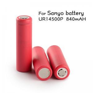 Wholesale Genuine Sanyo 14500 vapor ecig mod batteries high capacity 3.7V Sanyo UR14500P 840mAh Sanyo 14500 rechargeable battery from china suppliers