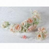 China Jelly Rose A Series of Bridal Headwear with Limpid Color, Used for Wedding Gown and Dress on sale