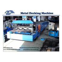 Wholesale Floor Deck Roll Forming Machine 22KW Main Power For 0.8-1.6mm Thickness PPGI Sheet from china suppliers