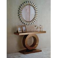 Buy cheap brown mirrored furniture console and round wall mirror from wholesalers