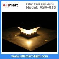 Wholesale Smart Solar Warm White LED Solar Mission Lantern Illuminated In The Top and One Amber LED in the Pillar Candle from china suppliers