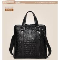 Wholesale factory direct crocodile pattern leather business bags for men drop shipping from china suppliers