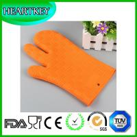 Wholesale Silicone Non Slip Silicone and Cotton Oven Mitt Insulated Silicone Glove Use For Oven Microwave Oven And Grill from china suppliers