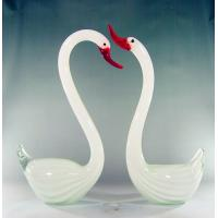 Wholesale White handblown glass birds,DJ-8013 from china suppliers
