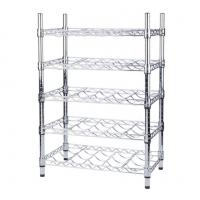 Wholesale Wine Bottle Cradle Stainless Steel Kitchen Shelves For Bottle Collection Securely Store from china suppliers