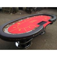 Wholesale Red Oval Marble Texas Holdem Poker Table Two  Metal Legs High Top Poker Table from china suppliers