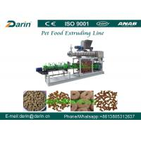 Wholesale Double Screw Pet Food Extruder , Unique Dry Pet Food Production Line from china suppliers