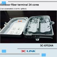 Wholesale Poled Mounted Fiber Terminal Box , ABS / PC Material Cable FTTH Termination Box For CATV Networks from china suppliers