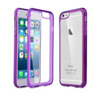 Wholesale Clear Slim IPhone 6 Plus Protective Case Scratch - Resistant Smoke Purple Edge from china suppliers