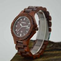 Wholesale Eco Friendly Wooden Style Watches With 240MM Length Band , 3-10 ATM Water Resistant from china suppliers