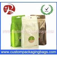 Wholesale Flat Bottom Foil Plastic Ziplock Bag For Tea , Stand Up Packaging Pouches With Window from china suppliers