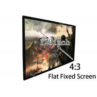 Wholesale Easy Install 120 Inch 4 3 Projection Screen , Flat Projector Screen Stages / Trade Shows from china suppliers