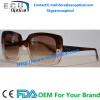 Wholesale 2014 stylish fashion sunglasses thick flat top black and transparent frame sunglasses from china suppliers