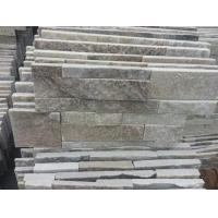 Wholesale Golden Wooden Vein Quartzite Thin Stone Veneer,Natural Quartz Culture Stone,S cut Stone Cladding from china suppliers