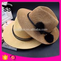 Wholesale 2017 Fabrics Used Make Cheap Panama D30cm 60g China Cowboy Paper Women Summer Straw Hats from china suppliers