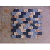 Wholesale Black Limestone Mosaic Mixed Travertine from china suppliers