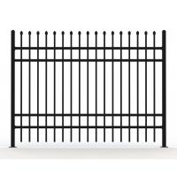 Wholesale Garrison Tubular Fence Panels 2100mm*2400mm black powder coated from china suppliers