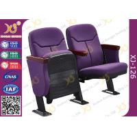 Wholesale Triangle Armrest Short Back Rest Auditorium Church Chairs With Folding Soft Padded Seat from china suppliers