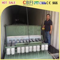 Wholesale 3 Ton Containerized Block Ice Plant , Commercial Ice Block Maker Large Production from china suppliers