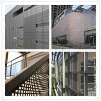 Perforated metal exterior wall panels
