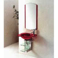 Wholesale Rose Glass Basin Bathroom Cabinet Vanity (5130) from china suppliers