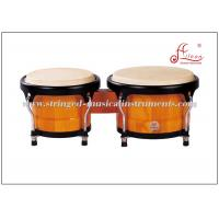 Wholesale Latin Percussion Instruments , White toon wood Black Powder Coated African Bongo Drum from china suppliers