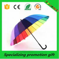 Wholesale Colorful Straight 24k Rainbow Custom Print Umbrella With Golden Aluminum Shaft from china suppliers