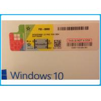 Buy cheap Windows 10 pro 32 Bit / 64 Bit Product Key Code Win10 Professional COA Key License with Silver scratch off label from wholesalers