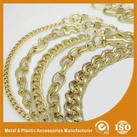 Wholesale Shiny Gold Solid Brass Handbag Metal Chain For Purse Accessories from china suppliers