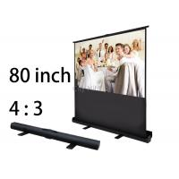 "Wholesale Easy Clean 80"" Floor Standing Roll-Up Projection Screen Portable Gain 1.1 from china suppliers"