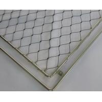 Wholesale Steel Wire Rope Flexmesh, Stainless Steel Black Oxide Zoo Mesh,Ferruled Mesh from china suppliers