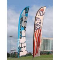 Wholesale Trade Show Feather Flags Banner , Swooper Flag Feather Fly Knitted Polyester from china suppliers