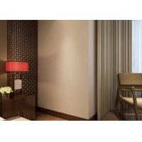 Wholesale Non - woven Pure Beige Modern Removable Wallpaper for Bedroom , Hotel from china suppliers