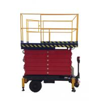 Scissor structure AC DC power supply mobile manlift for painting, cleaning