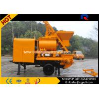 Quality Double - shafts Concrete Mixer Pump Trailer Hopper Capacity 800L for sale