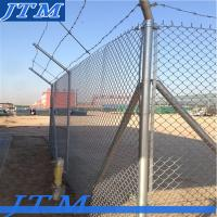 Quality [China factory]Galvanized steel pipe chain link fence for sale