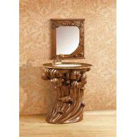 Wholesale Classic Resin Bathroom Cabinet With Mirror Hotel Decoration Furniture from china suppliers