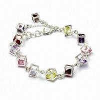 Wholesale Silver/Brass Charm Bracelet, Customized Designs Accepted from china suppliers