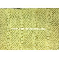 "Wholesale 50"" Yellow Polyester Guipure Lace Trim Crochet For Clothes Accessories from china suppliers"