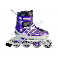 Wholesale Purple Aluminum Frame Roller Skate Shoes for Adults , 4 Wheel Mens Roller Skates from china suppliers