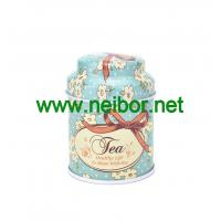 Wholesale custom printing small round metal tin tea box storage can with dome lid from china suppliers