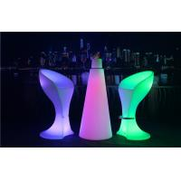 Wholesale PE Plastic Full Color Led Glow Furniture With Metal Treadle / LED Bar Stool from china suppliers