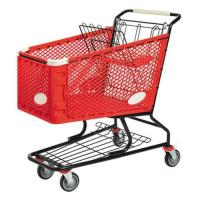 Wholesale Portable Plastic Extra Large Supermarket Shopping Trolley With Four Wheel from china suppliers