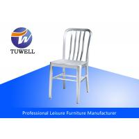 Anodizing Brushed Indoor Cafe Metal Navy Chairs Heavy Duty